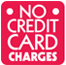 No Credit Card Charges