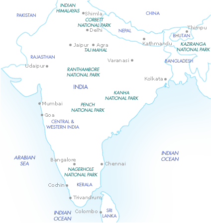 India, the Himalayas & Sri Lanka